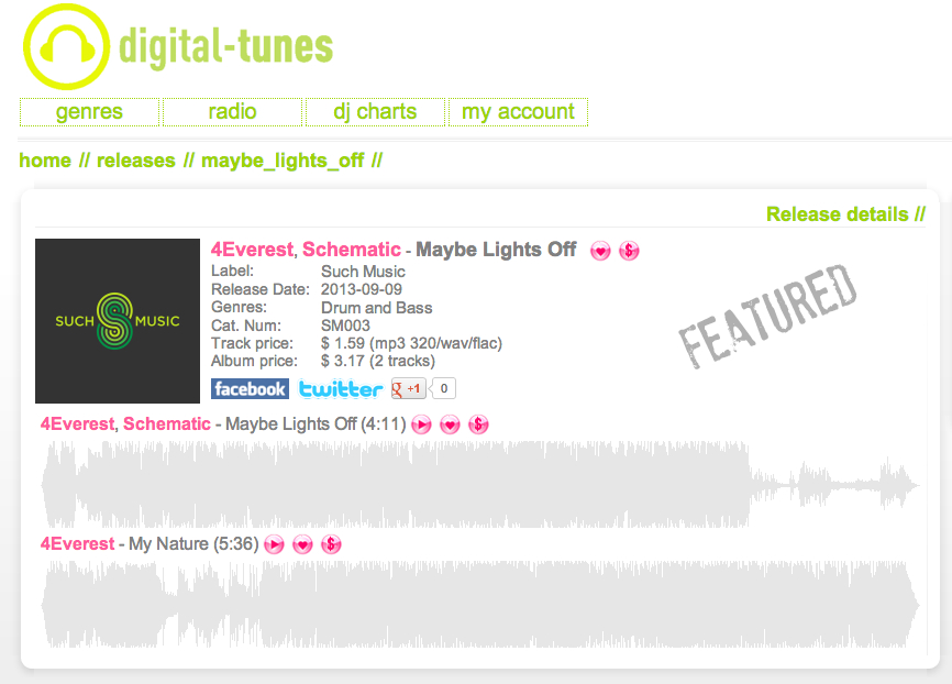 digitaltunes feature